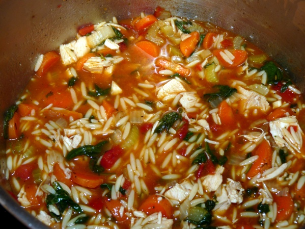 Orzo will continue to absorb liquid and suit might become more like stew.