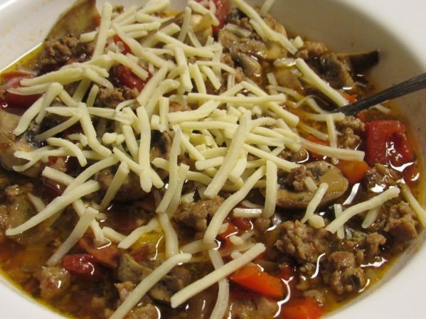 Meat Lovers Pizza Soup