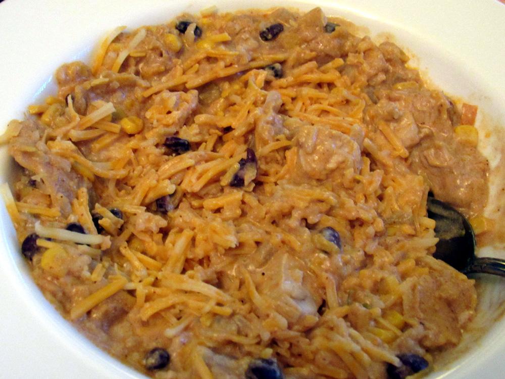 One Pot Chicken Enchilada Bowl