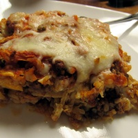 Beefy Shredded Cabbage Casserole